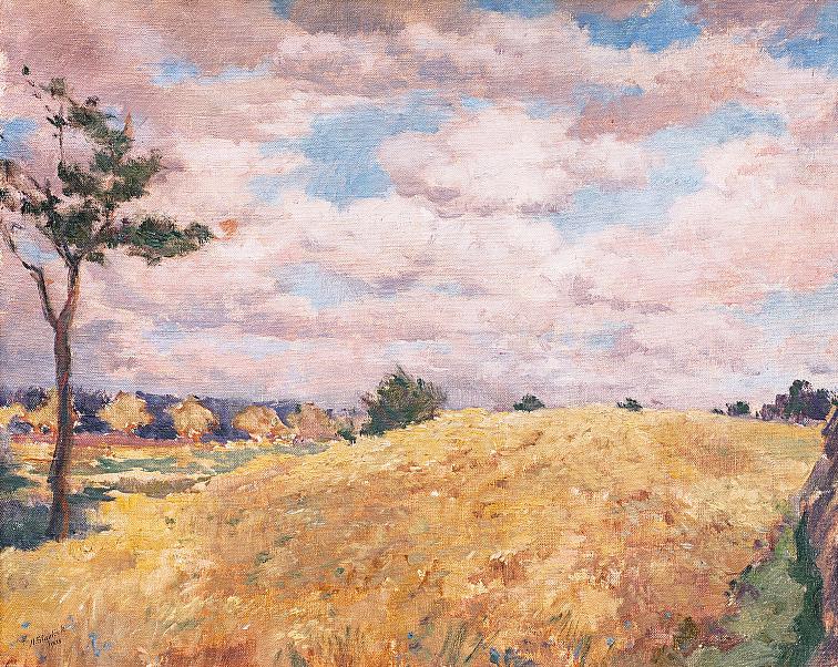 aukce obrazů, aukční síň european arts - Antonín Slavíček, Žito