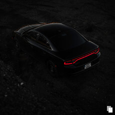 Fotografie - Black on black, Dodge Charger
