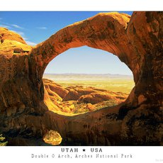 Fotografie - Double O Arch, Arches National Park