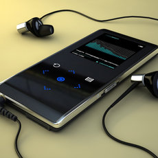 3D grafika - MP3 player