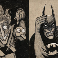 Grafika - Joker & Batman