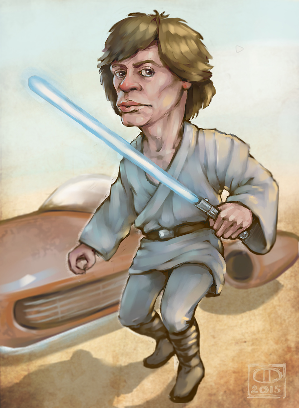 Luke Skywalker - fan art - Grafika - dejvak