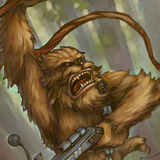 Grafika - Chewbacca - fan art