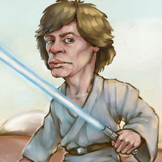 Grafika - Luke Skywalker - fan art