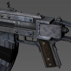 3D grafika - Homemade Assault Rifle