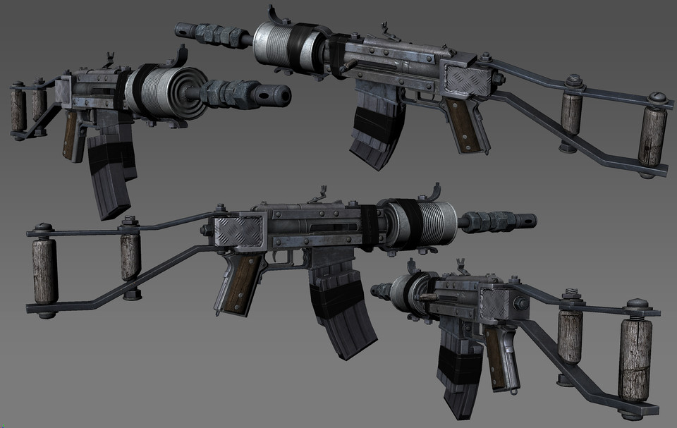 Homemade Assault Rifle - 3D grafika - Araon