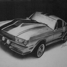 Grafika - Shelby mustang GT-500 1967 Eleanor