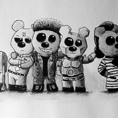 Grafika - Red Dwarf Teddys