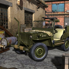 3D grafika - Jeep Willys