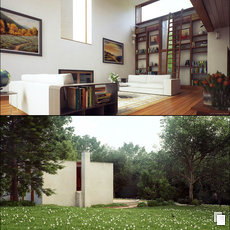 3D grafika - Esherick House by L. Kahn pt.2