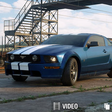 3D grafika - Ford Mustang remake