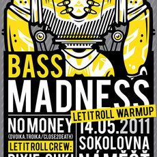 Grafika - BASS MADNESS_plakat