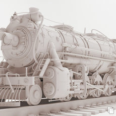 3D grafika - Old locomotive