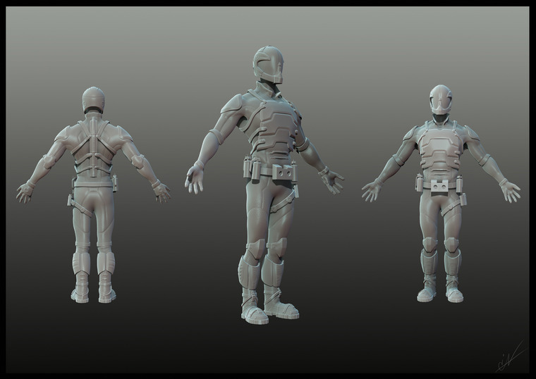 Character do hry - 3D grafika - Spidertech