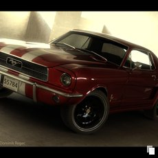 3D grafika - Ford Mustang Coupe 1968