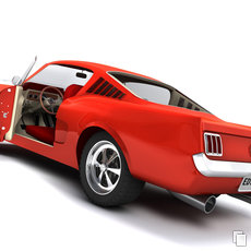 3D grafika - Ford Mustang Fastback 1965