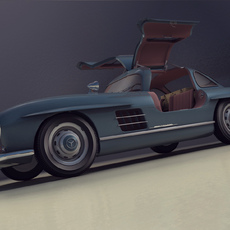 3D grafika - Mercedes 300SL Gullwing 1960