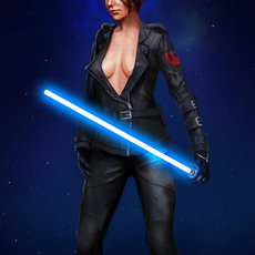 Grafika - Female Jedi