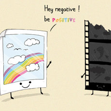 Grafika - Hey negative, be positive!