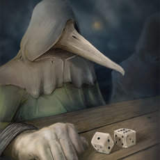 Grafika - Plague doctor playing dice