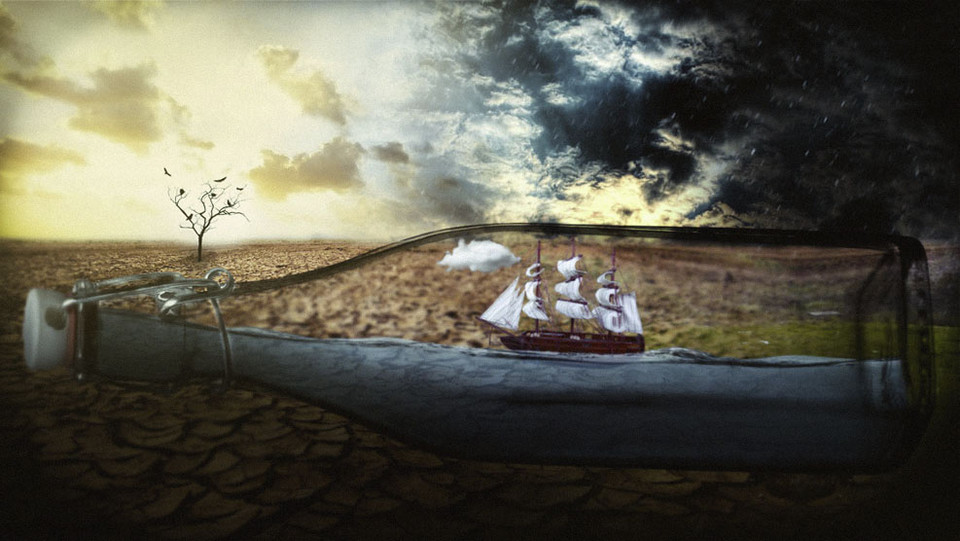 Ship in a Bottle.. - Grafika - Dolc3