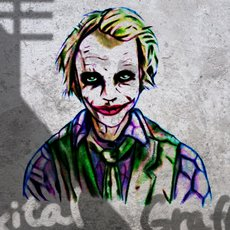 Grafika - Joker on the Wall