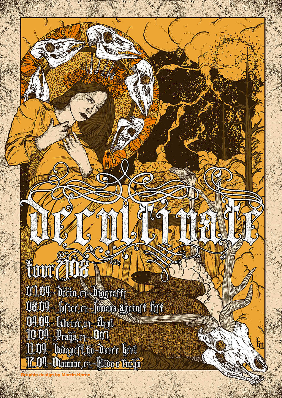 Decultivate - Tour poster - Grafika - Thaw