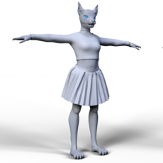 3D grafika - Feline anthromorph.